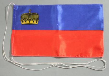 Tischflagge Liechtenstein 25x15 cm optional mit Holz- oder Chromständer Tisch...