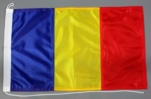 Bootsflagge Rumänien 30x45 cm Motorradflagge Bootsfahne