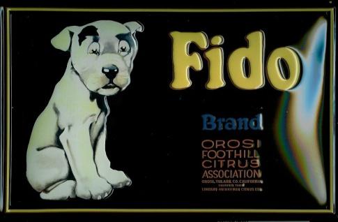 Blechschild Fido Hund Citrus Schild Nostalgieschild Hundefutter Werbung