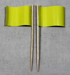 Party-Picker Flagge Uni Gelb Papierfähnchen in Spitzenqualität 50 Stück Beutel