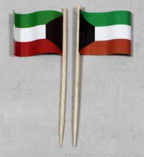 Party-Picker Flagge Kuwait Papierfähnchen in Spitzenqualität 50 Stück Beutel
