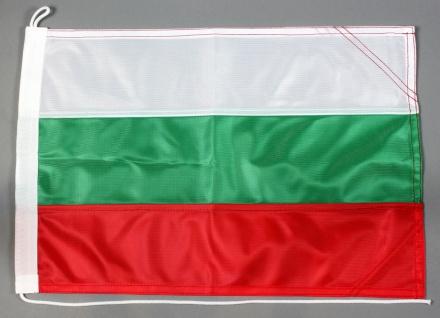 Bootsflagge Bulgarien 30x45 cm Motorradflagge Bootsfahne