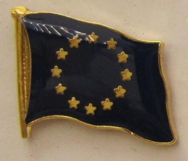 Pin Anstecker Flagge Fahne Europa Europäische Union Europarat Flaggenpin Butt...