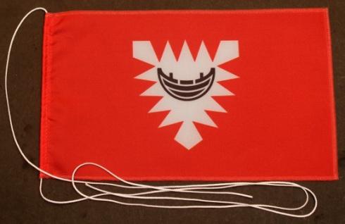 Tischflagge Kiel 25x15 cm optional mit Holz- oder Chromständer Tischfahne Tis...