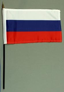 Tischflagge Rußland 15x25 cm BASIC optional mit Tischflaggenständer