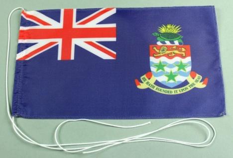 Tischflagge Cayman Inseln 25x15 cm optional mit Holz- oder Chromständer Tisch...