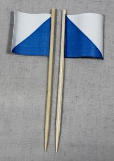 Party-Picker Flagge Zürich Kanton Schweiz Papierfähnchen in Spitzenqualität 5...