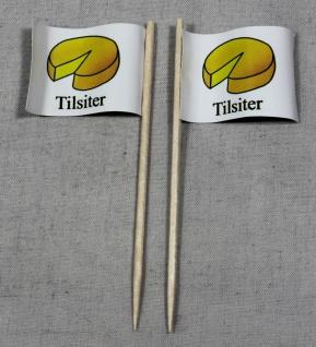 Party-Picker Flagge Tilsiter Käse Papierfähnchen in Spitzenqualität 50 Stück ...
