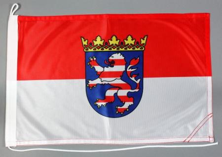 Bootsflagge Hessen 30x45 cm Motorradflagge Bootsfahne