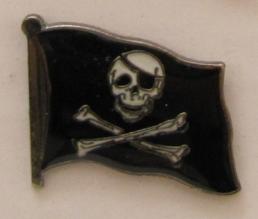 Pin Anstecker Flagge Fahne Pirat Totenkopf Flaggenpin Button Badge Flaggen Cl...