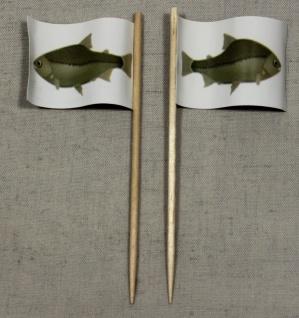 Party-Picker Flagge Fisch Papierfähnchen in Spitzenqualität 50 Stück Beutel