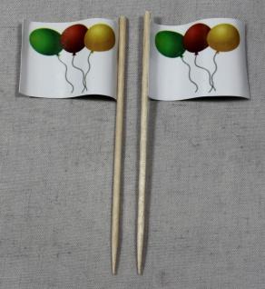 Party-Picker Flagge Luftballons Papierfähnchen in Spitzenqualität 50 Stück Be...
