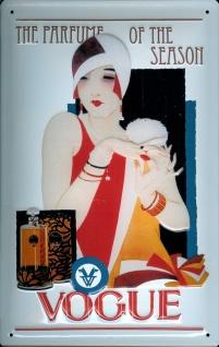 Blechschild Vogue Parfum Schild Parfume Nostalgieschild - Vorschau