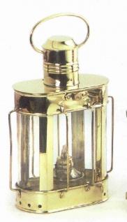 Schiffslampe Messing Kabelgattlampe oval 30 cm Höhe schwere Ausführung Petroleum