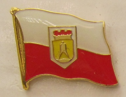 Pin Anstecker Flagge Fahne Cuxhaven Nordsee Stadtflagge Flaggenpin Button Bad...
