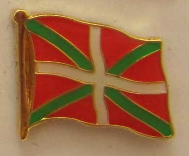 Pin Anstecker Flagge Fahne Baskenland Flaggenpin Button Badge Flaggen Clip An...