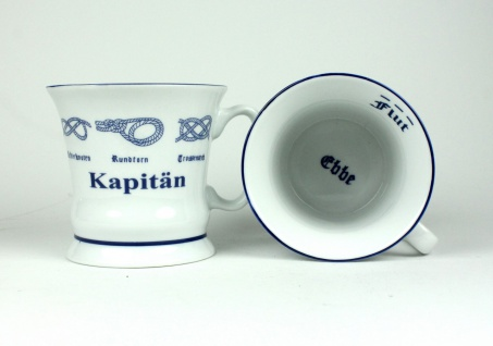 """"""" Kapitän"""" Pott mit Seemannsknoten hoch Kaffeebecher Kaffeetasse Kaffee Teepot... - Vorschau 1"""