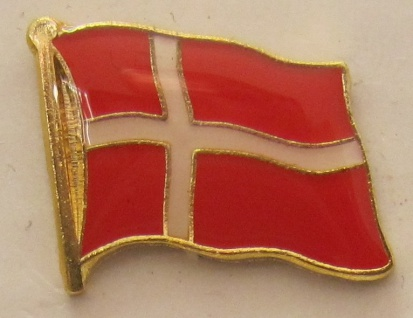 Pin Anstecker Flagge Fahne Dänemark Nationalflagge Flaggenpin Button Badge Fl...