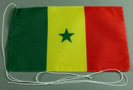 Tischflagge Senegal 25x15 cm optional mit Holz- oder Chromständer Tischfahne ...