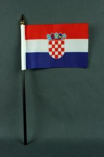 Kleine Tischflagge Kroatien 10x15 cm optional mit Tischfähnchenständer