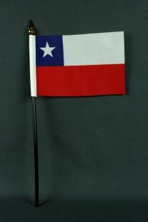 Kleine Tischflagge Chile 10x15 cm optional mit Tischfähnchenständer
