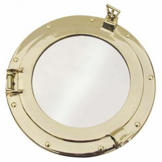 Bullaugen Spiegel 250 mm Massiv Messing Bullauge