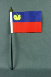 Kleine Tischflagge Liechtenstein 10x15 cm optional mit Tischfähnchenständer