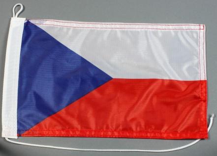 Bootsflagge : Tschechien 30x20 cm Motorradflagge
