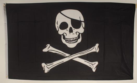 Flagge Fahne Pirat 90x60 cm Piratenflagge