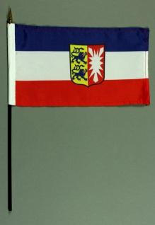 Tischflagge Schleswig Holstein 15x25 cm BASIC optional mit Tischflaggenständer