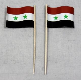 Party-Picker Flagge Syrien Papierfähnchen in Spitzenqualität 50 Stück Beutel