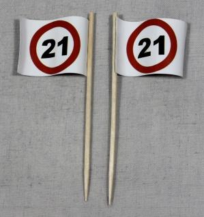 Party-Picker Flagge Tempo 21 Verkehrszeichen Papierfähnchen in Spitzenqualitä...