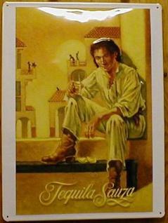 Blechschild Tequila Sauza Mexiko Schild retro Werbeschild Nostalgieschild - Vorschau