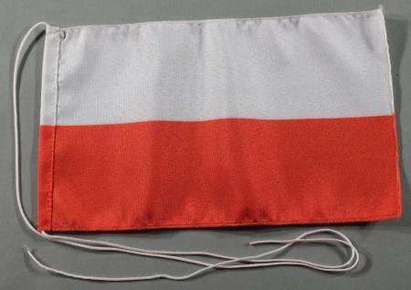 Tischflagge Polen 25x15 cm optional mit Holz- oder Chromständer Tischfahne Ti...