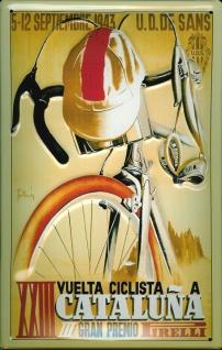 Blechschild Nostalgieschild Vuelta Ciclista Cataluna Radrennen Spanien