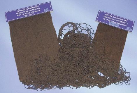 Fischernetz Deko braun eingefärbt 200x400cm