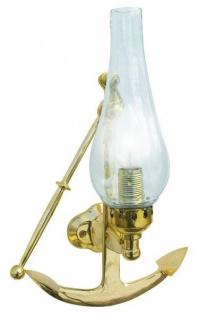 Wandlampe Messing Wandleuchte Anker elektrisch