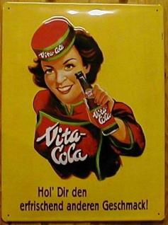 Blechschild Vita Cola DDR Olstalgie Ostprodukt Schild retro Werbeschild - Vorschau