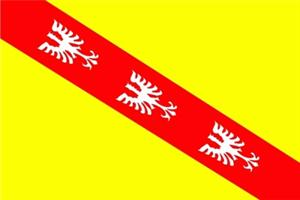 Flagge Fahne : Lothringen Lorraine (Region) Frankreich
