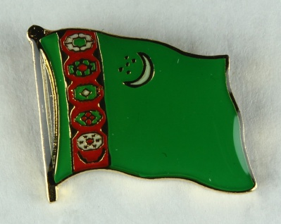 Turkmenistan Pin Anstecker Flagge Fahne Nationalflagge