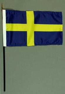 Tischflagge Schweden 15x25 cm BASIC optional mit Tischflaggenständer