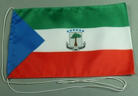 Tischflagge Aequatorial Guinesa Äquatorial Guinea 25x15 cm optional mit Holz-...