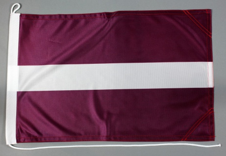 Bootsflagge Lettland 30x45 cm Motorradflagge Bootsfahne