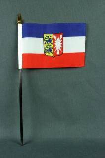 Kleine Tischflagge Schleswig Holstein 10x15 cm optional mit Tischfähnchenständer