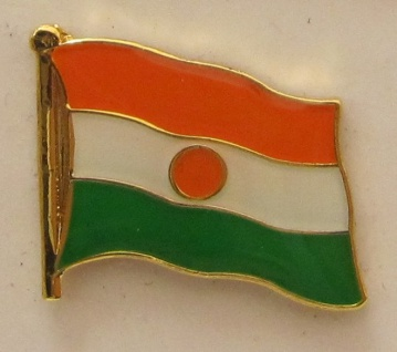 Niger Pin Anstecker Flagge Fahne Nationalflagge