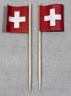 Party-Picker Flagge Schweiz quadratisch Papierfähnchen in Spitzenqualität 50 ...