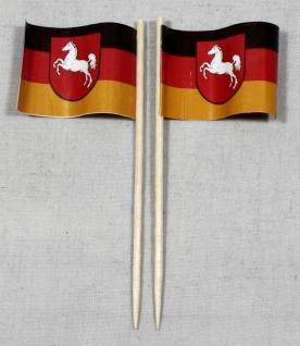 Party-Picker Flagge Niedersachsen Papierfähnchen in Spitzenqualität 50 Stück ...