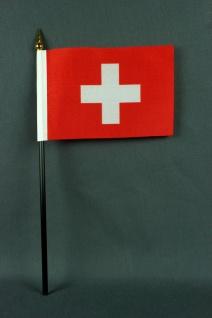 Kleine Tischflagge Schweiz 10x15 cm optional mit Tischfähnchenständer