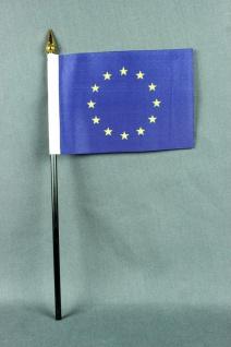 Kleine Tischflagge Europa Europaflagge EU Flagge 10x15 cm optional mit Tischf...