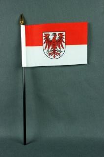 Kleine Tischflagge Brandenburg 10x15 cm optional mit Tischfähnchenständer